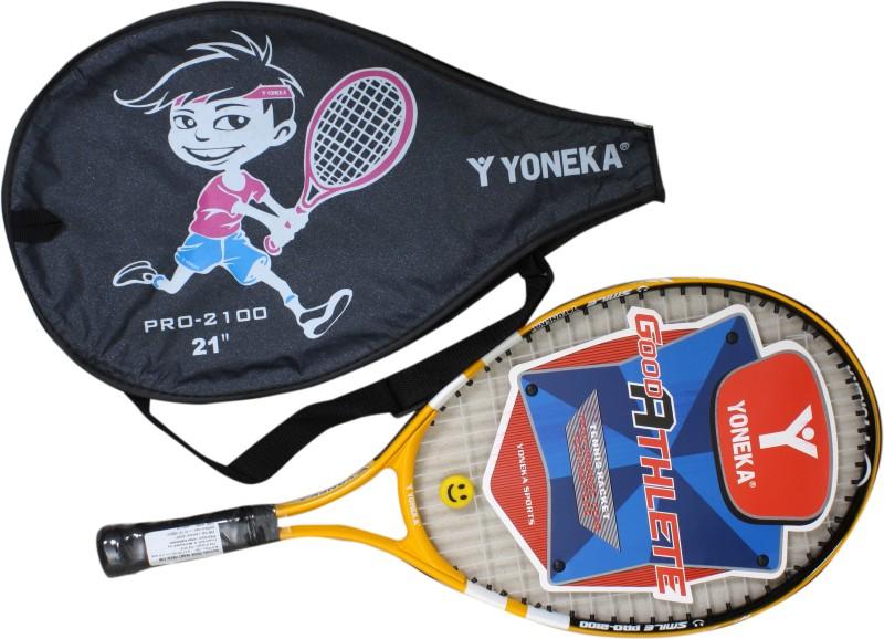 YONEKA 2100 Multicolor Strung Tennis Racquet(G3 - 4 3/8 Inches, 300 g)