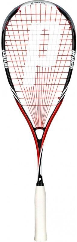 Prince Pro Airstick Lite 550 Red, Black Strung Squash Racquet(Standard, 130 g)