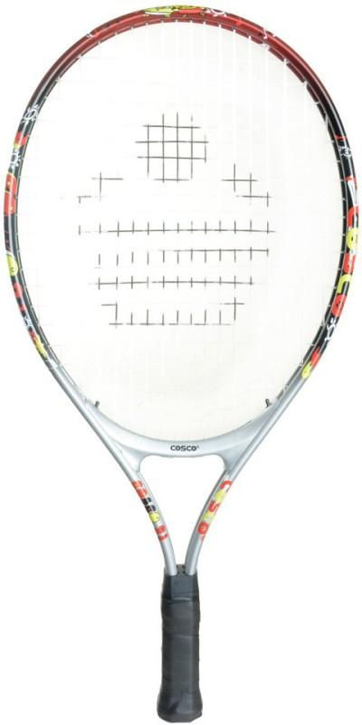 Cosco Jr.21 Multicolor Strung Tennis Racquet(G4 - 4 1/2 Inches, 300 g)