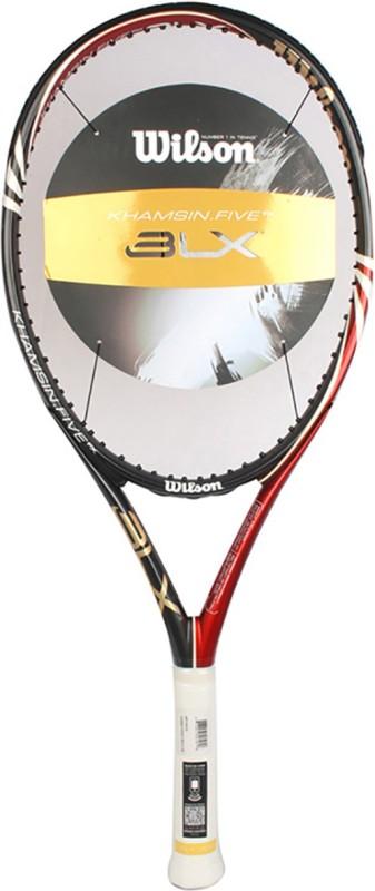 Wilson Khamsin Five BLX 108 Red, Black, Gold Unstrung Tennis Racquet(G4 - 4 1/2 Inches, 272 g)