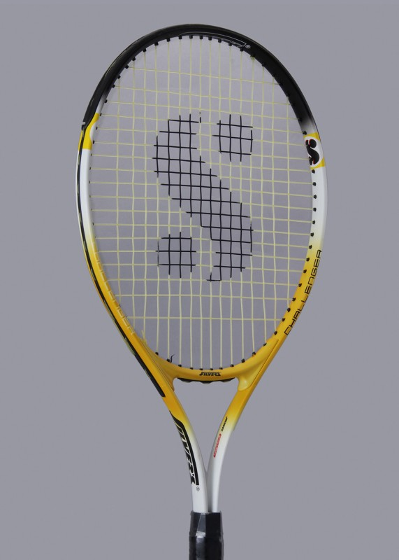 Silver's Flow 333 Gutted Yellow, White, Black Strung Tennis Racquet(G3 - 4 3/8 Inches, 286 g)