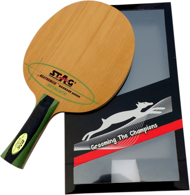 Stag BEATRONICS BARRAGE SERIES (RETALIATE) Brown Table Tennis Blade(72 g)