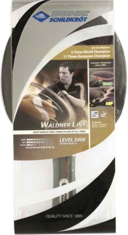 Donic Waldner 5000 Black Table Tennis Racquet(NA, Weight - 650 g)