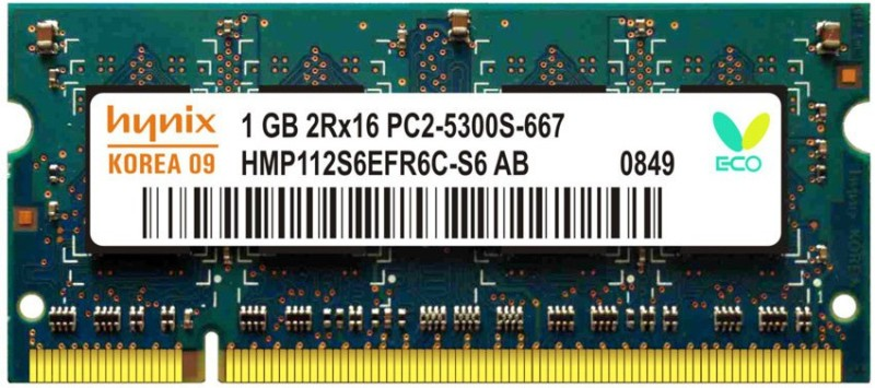 Hynix ddr2 DDR2 1 GB (Single Channel) Laptop (Lapee 667)(Multicolor)
