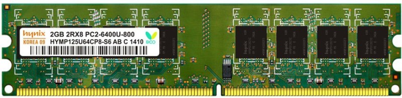 Hynix genuine DDR2 2 GB (Single Channel) PC (H15201504-8)(greeen)