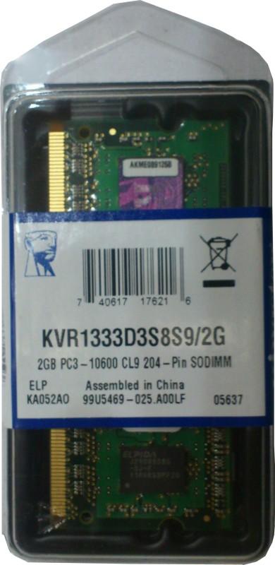 Kingston DDR3 2 GB Laptop DRAM (KVR1333D3S8S9/2G)