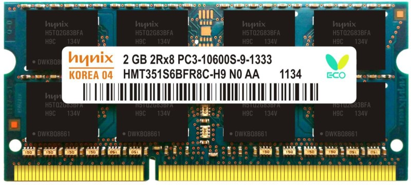 Hynix Genuine DDR3 2 GB (Single Channel) Laptop (H15201504-23)