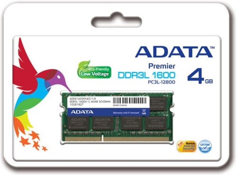Adata Premier DDR3 4 GB (Dual Channel) Laptop (ADDS1600W4G11-R)