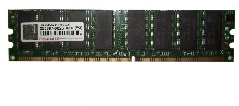 Transcend DDR400 DDR 1 GB (Dual Channel) PC (253687-0026)(Green) image