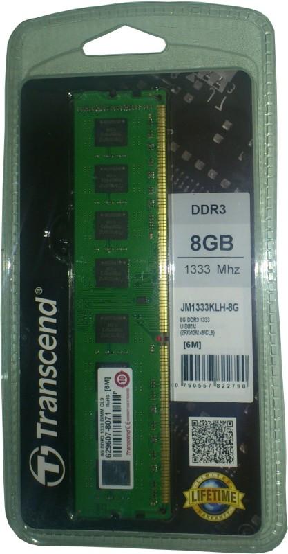 Transcend JetRam DDR3 8 GB PC DRAM (JM1333KLH-8G)