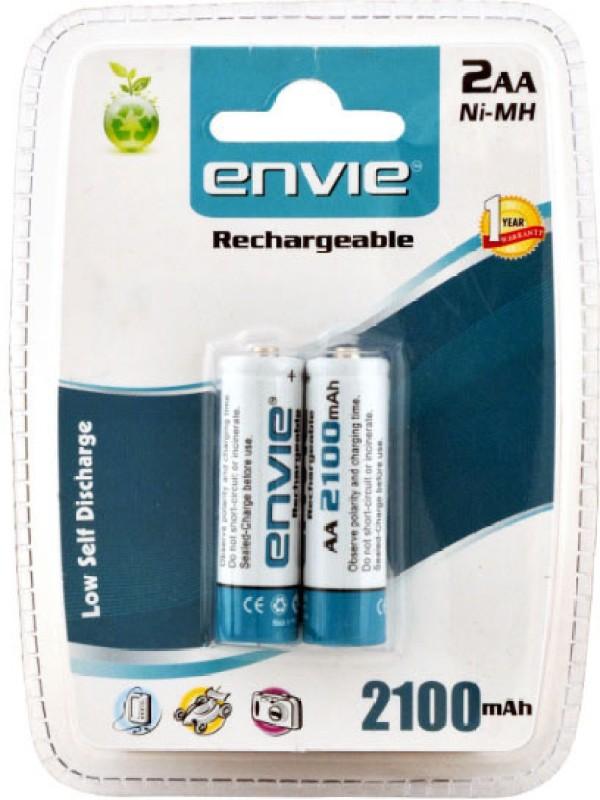 Envie 2 x AA 2100 mAh Ni-Mh Rechargeable Ni-MH Battery