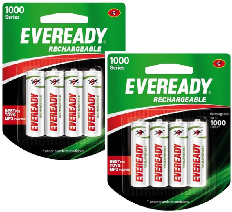 Eveready 1000 Series AA NIMH (8 Pcs) Rechargeable Ni-MH Battery