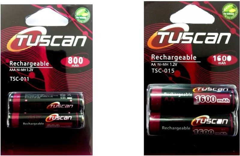 Tuscan 800AAA&1600AA1Pk Rechargeable Ni-MH Battery