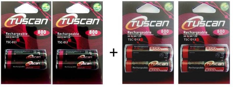 Tuscan 800AAA&800AA2Pk Rechargeable Ni-MH Battery