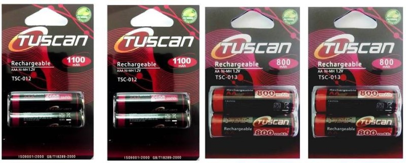 Tuscan 1100AAA&800AA2Pk Rechargeable Ni-MH Battery