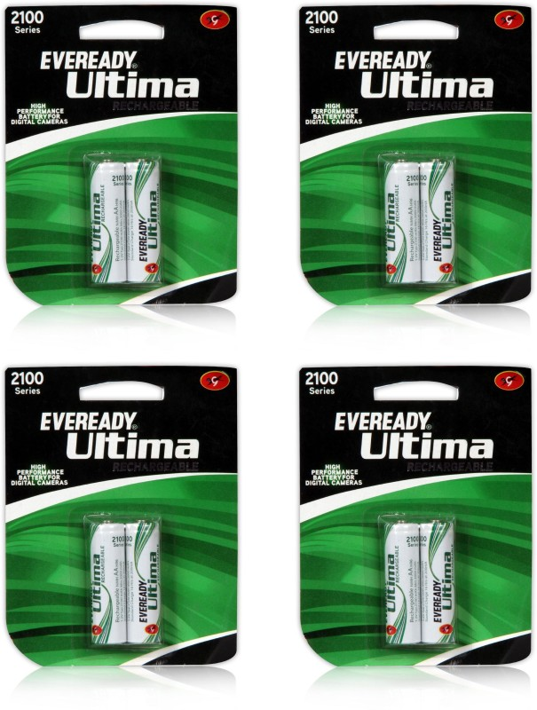 Eveready 2100 mAh AA Battery with 8 Battery (4x2) Rechargeable Ni-MH Battery