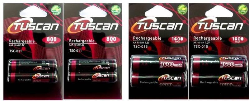Tuscan 800AAA&1600AA2Pk Rechargeable Ni-MH Battery