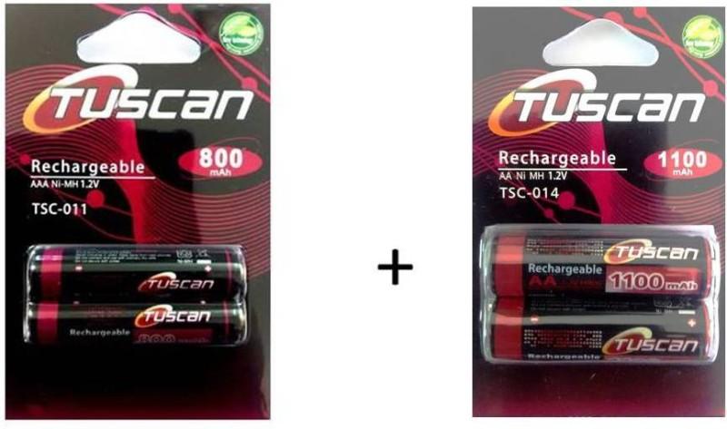 Tuscan 800AAA&1100AA1Pk Rechargeable Ni-MH Battery