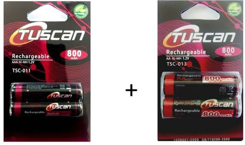 Tuscan 800AAA&800AA1Pk Rechargeable Ni-MH Battery