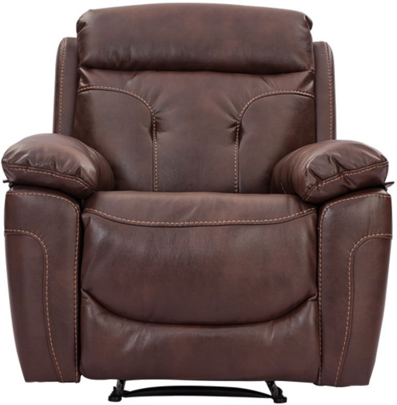 Durian Half-leather Powered Recliners(Finish Color - Chocolate Brown)