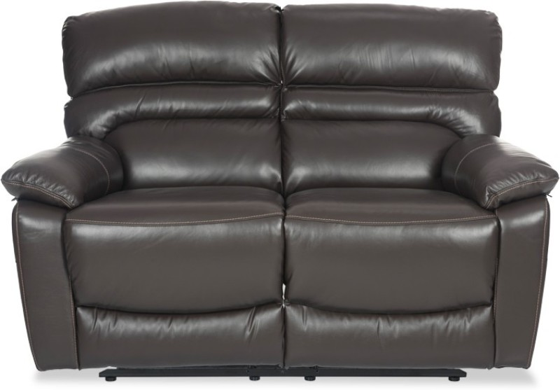 Durian Leather Manual Recliners(Finish Color - Dark Brown)
