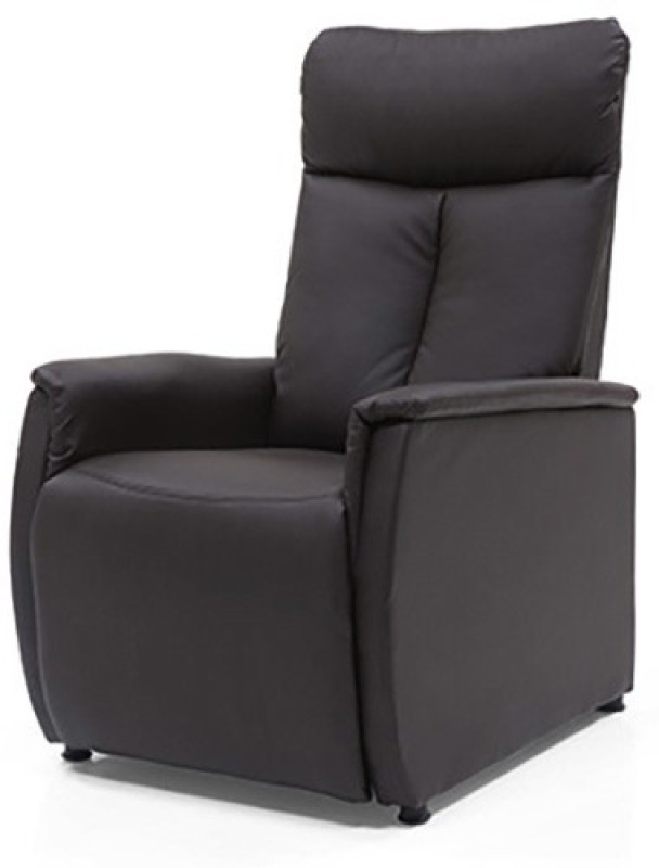 Urban Ladder Bertie Compact Leatherette Manual Recliners(Finish Color - Chocolate Brown)