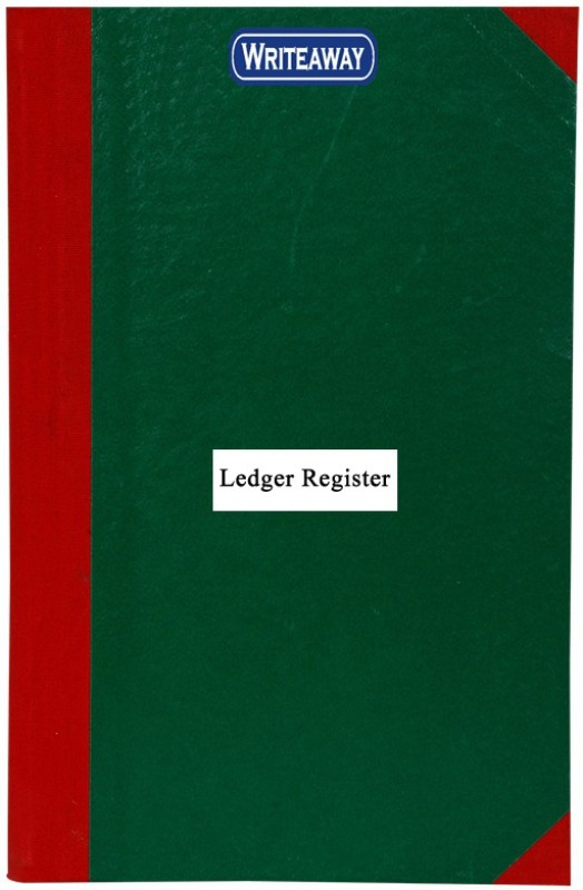WRITEAWAY LEDGER RED HALF CONVAS PVC BINDING REGISTER SIZE(PAGES-177)NO-3 BSC10705 1-Part Register(1 Sets)