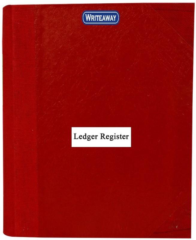 WRITEAWAY LEDGER RED HALF CONVAS PVC BINDING COPY SIZE(PAGES-800)NO -6 BSC10553 1-Part Copy size Register(1 Sets)