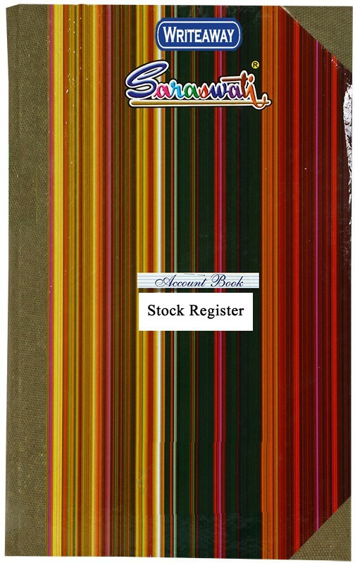 WRITEAWAY STOCK REGISTER HARD BINDING REGISTER SIZE (PAGES-540)NO-8 BSC10720 1-Part Register(1 Sets)