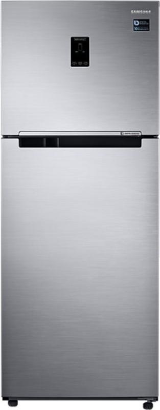 Samsung 394 L Frost Free Double Door Refrigerator(Elegant Inox, RT39K5518S8)