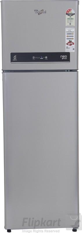 Whirlpool 292 L Frost Free Double Door 3 Star Refrigerator(Alpha Steel, IF 305 ELT ALPHA STEEL(3S))