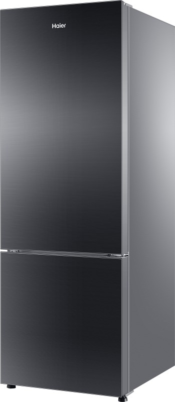 Haier 345 L Frost Free Double Door Refrigerator(Black Glass, HRB-...