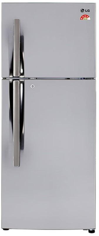 LG 260 L Frost Free Double Door Refrigerator(Shiny Steel, GL-I292RPZL)