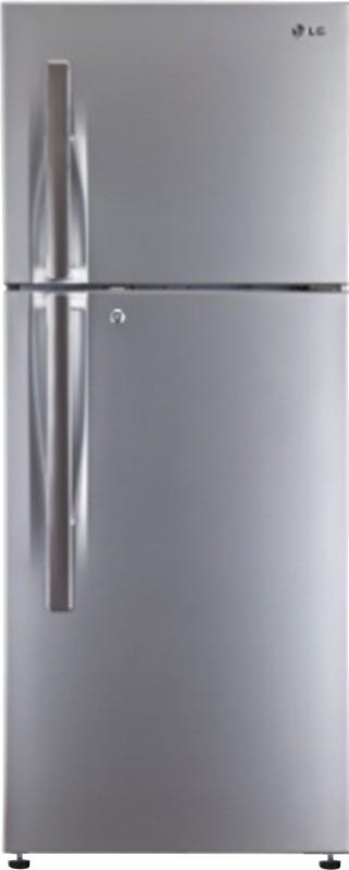 LG 360 L Frost Free Double Door Refrigerator(Shiny Steel, GL-T402HPZM)