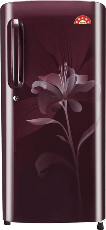 LG 190 L Direct Cool Single Door Refrigerator(Scarlet Lily GL-B201ASLN)