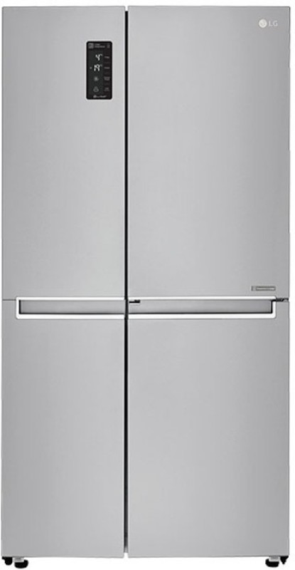 LG 687 L Frost Free Side by Side Refrigerator(Shiny Steel/Platinum...