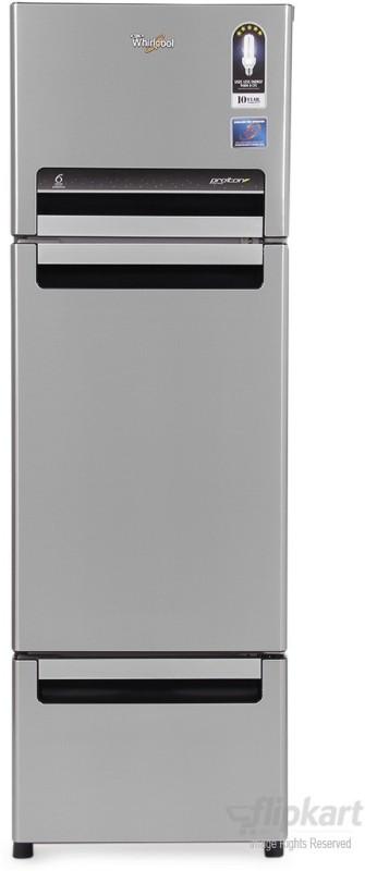 Whirlpool 260 L Frost Free Triple Door Refrigerator(Alpha Steel (N), FP 283D PROTTON ROY)