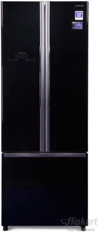 Hitachi 456 L Frost Free French Door Bottom Mount Refrigerator(Glass...