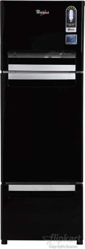 Whirlpool 240 L Frost Free Triple Door Refrigerator(Mirror Black FP 263D PROTTON ROY)