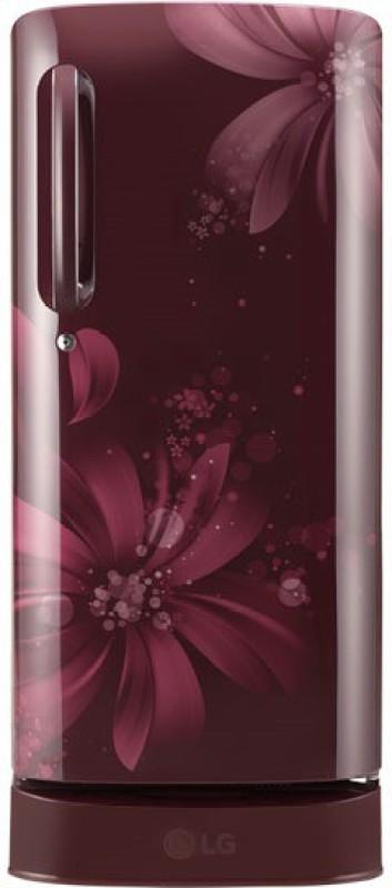 LG 190 L Direct Cool Single Door Refrigerator(Scarlet Aster, GL-D201ASAW)