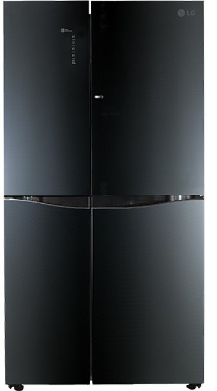 LG 675 L Frost Free Side by Side Refrigerator(Luminous Black,...