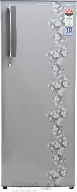 Kelvinator 245 L Direct Cool Single Door Refrigerator(Grey Pastel KO255LT PG)