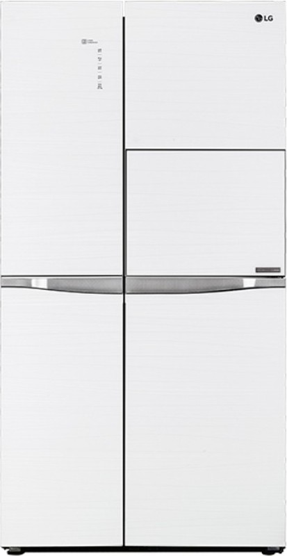 LG 675 L Frost Free Side by Side Refrigerator(Aria White,...