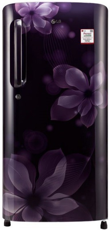 LG 190 L Direct Cool Single Door Refrigerator(purple orchid, GL-B201APOX)