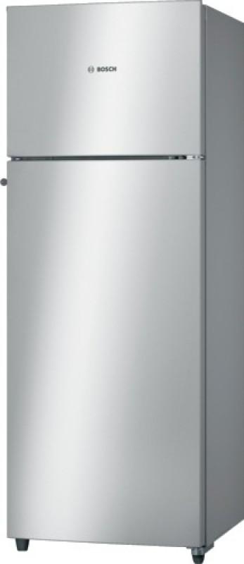 Bosch 350 L Frost Free Double Door 2 Star Refrigerator(Silver, KDN43VS20I)