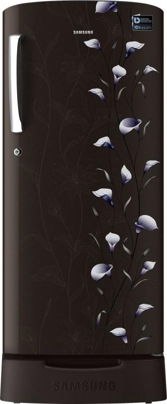 Samsung 192 L Direct Cool Single Door Refrigerator(Tender Lilly Black, RR19K282ZBZ)
