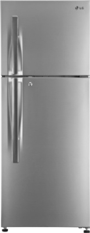 LG 260 L Frost Free Double Door Refrigerator(Shiny Steel, GL-T292RPZM)