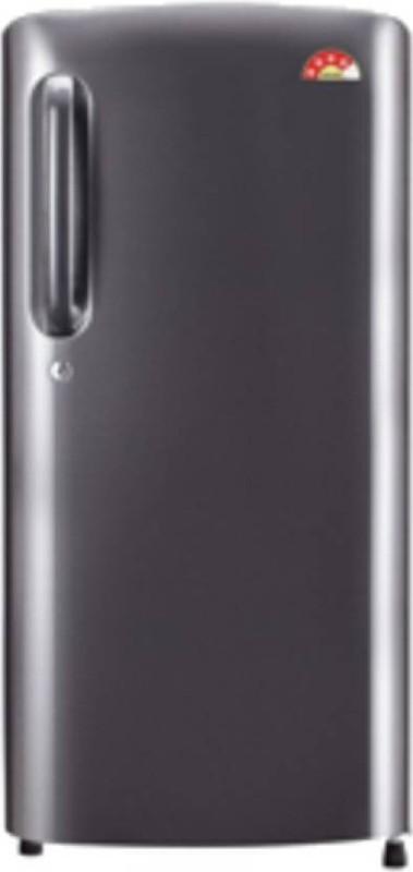 LG 190 L Direct Cool Single Door Refrigerator(dazzle Steel, GL-B201ADSW)