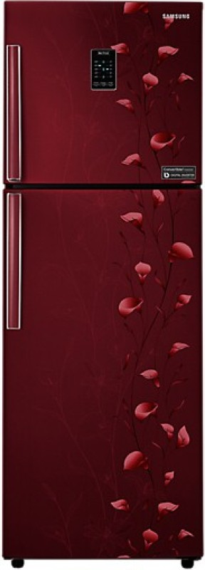 Samsung 318 L Frost Free Double Door Refrigerator(Tender Lily Red,...