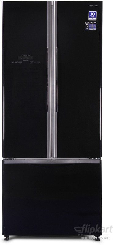Hitachi 510 L Frost Free Side by Side Refrigerator(Glass Black,...